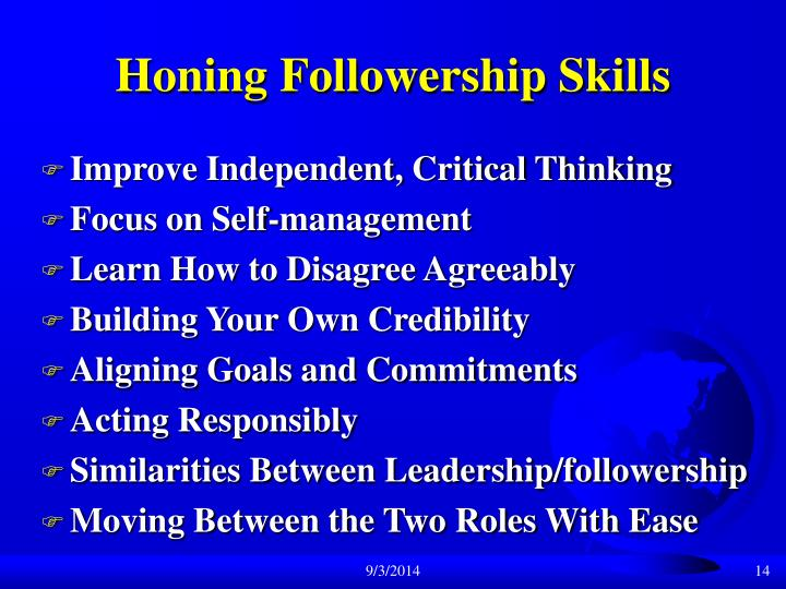 Honing Followership Skills