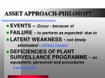 asset approach philosopy