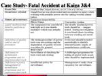 case study fatal accident at kaiga 3 43