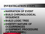 investigation steps