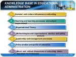 knowledge base in educational administration