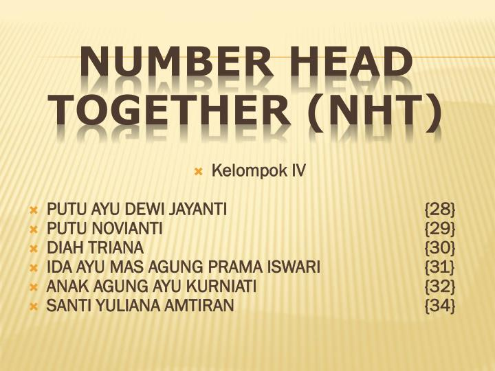 number head together nht n.