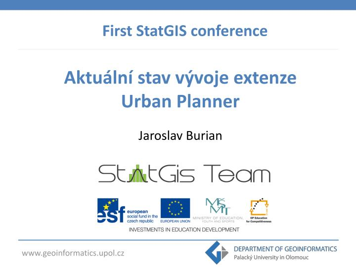 First StatGIS conference