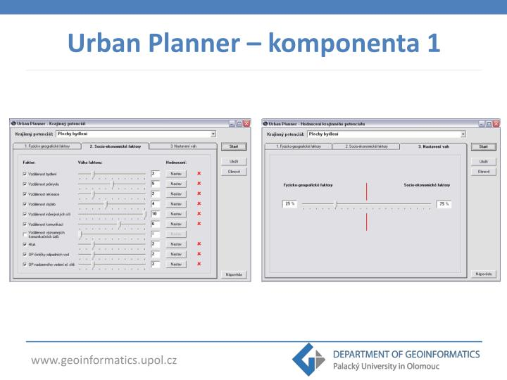 Urban Planner – komponenta 1