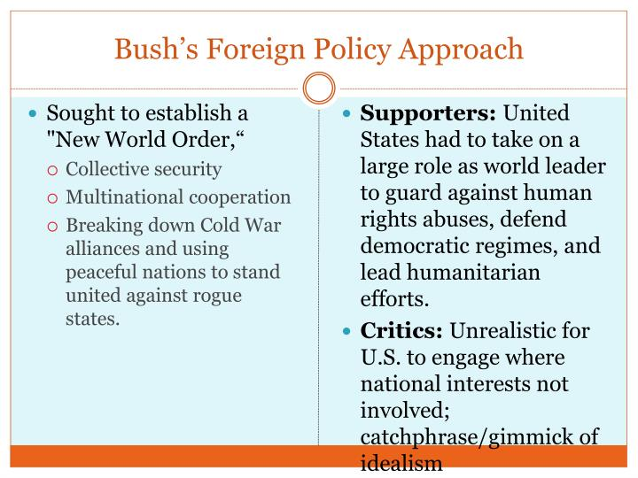 Bush's Foreign Policy Approach