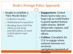 bush s foreign policy approach
