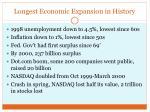 longest economic expansion in history