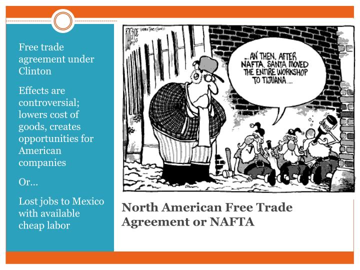 Free trade agreement under Clinton