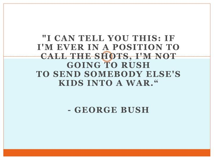 """""""I can tell you this: If I'm ever in a position to call the shots, I'm not going to rush"""