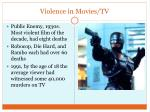 violence in movies tv