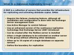 what is a database availability group