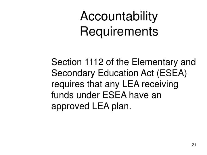 Accountability Requirements