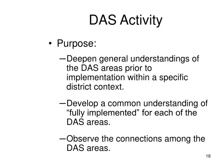 DAS Activity