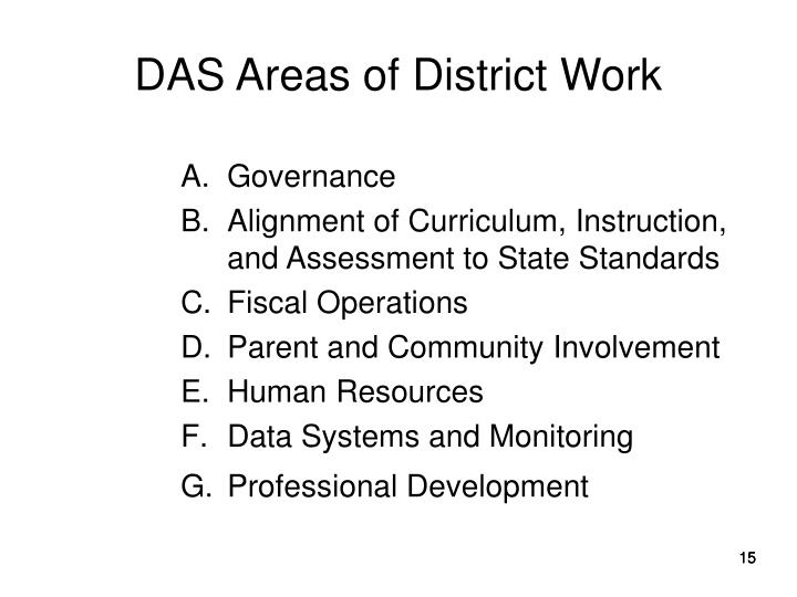 DAS Areas of District Work