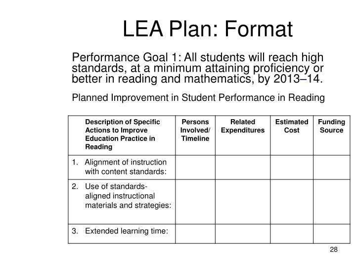 LEA Plan: F