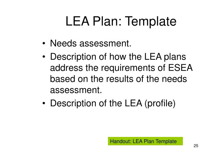 LEA Plan: