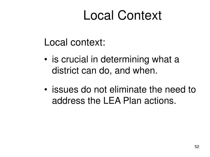 Local Context