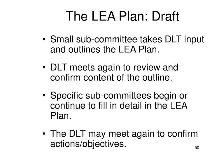 The LEA Plan: Draft