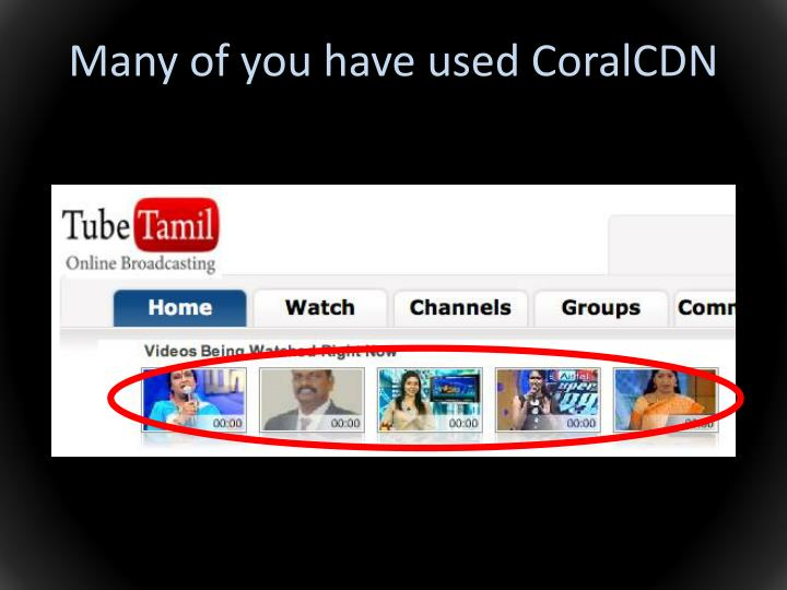 Many of you have used CoralCDN