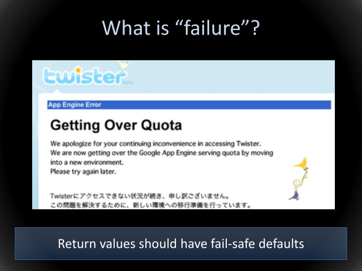 """What is """"failure""""?"""