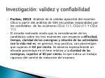 investigaci n validez y confiabilidad2