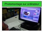 photomontage sur ordinateur