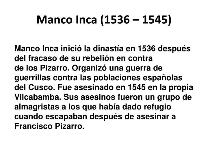 Manco inca 1536 1545