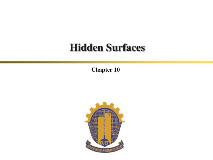 hidden surfaces n.