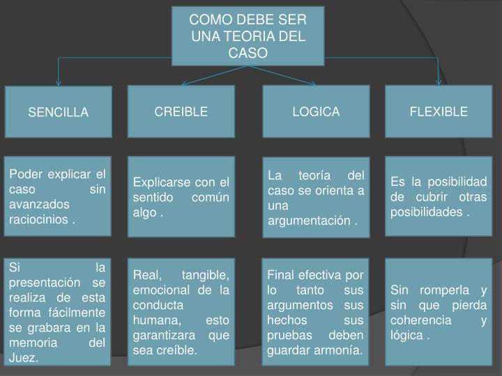 Resultado de imagen para TEORIA DEL CASO PPT