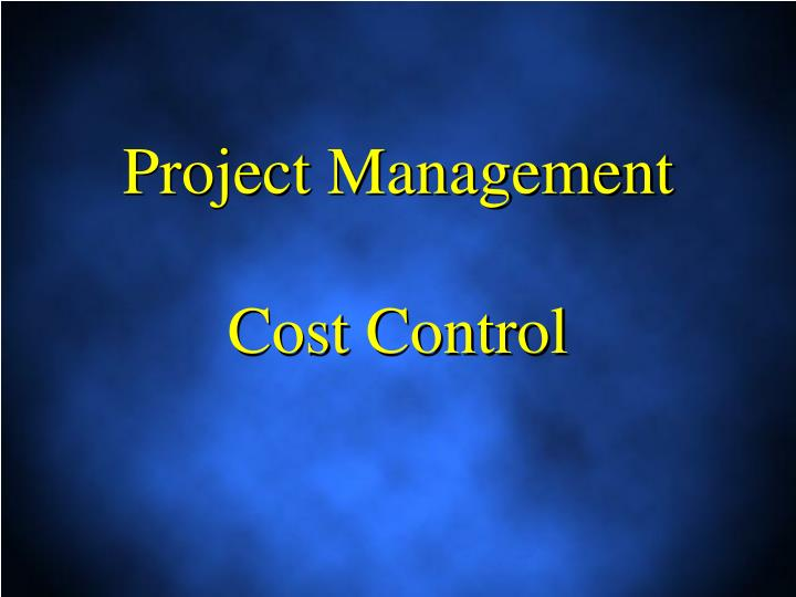 project management cost control n.