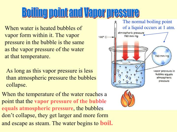vapor pressure and the heat of