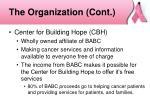 the organization cont