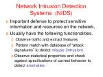 network intrusion detection systems nids