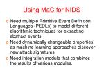 using mac for nids