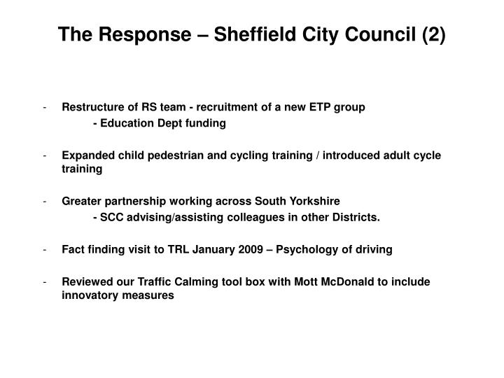 The Response – Sheffield City Council (2)