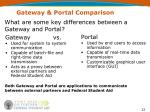 what are some key differences between a gateway and portal