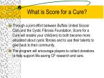 what is score for a cure