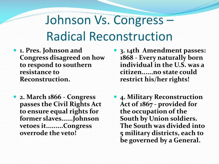 radical reconstruction of 1867 1877 significant changes Radical reconstruction , after several significant union radical reconstruction the period from 1867 – 1877 when radical republicans controlled the.