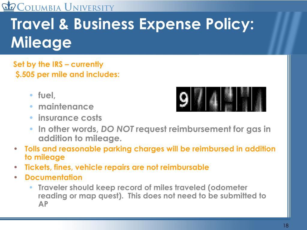 PPT - Travel and Business Expense Reimbursements ...