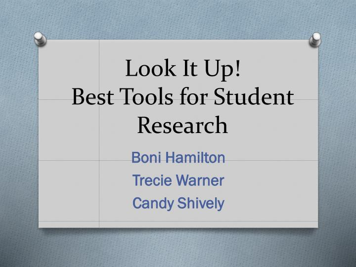 Look it up best tools for student research