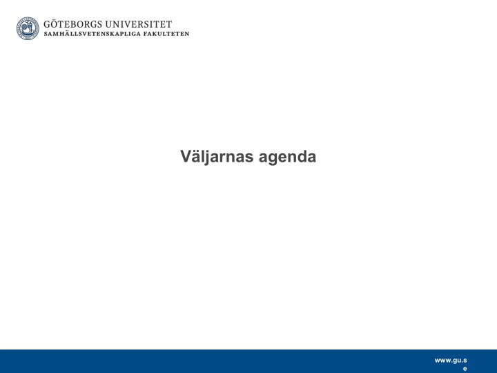 Väljarnas agenda