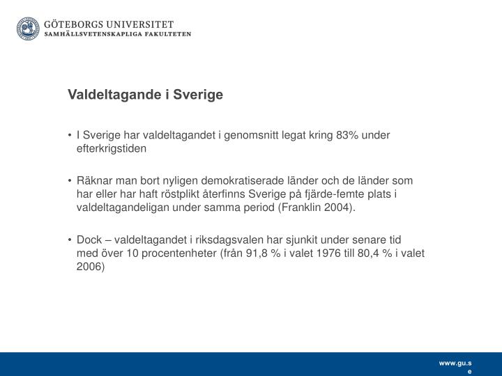 Valdeltagande i Sverige