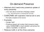 on demand presence