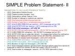 simple problem statement ii