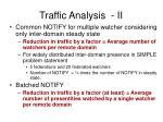 traffic analysis ii