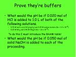 prove they re buffers