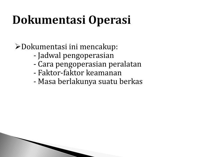Dokumentasi Operasi