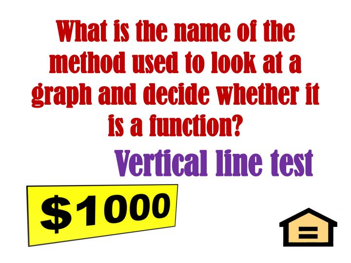 What is the name of the method used to look at a graph and decide whether it is a function?