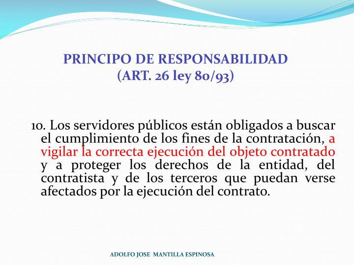 PRINCIPO DE RESPONSABILIDAD
