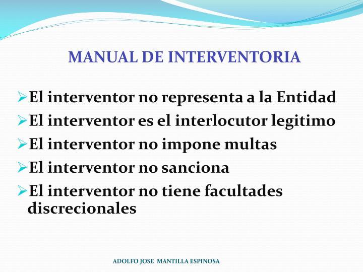 MANUAL DE INTERVENTORIA